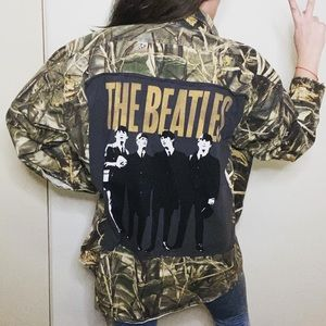 Camouflage Oversized Beatles Button Up